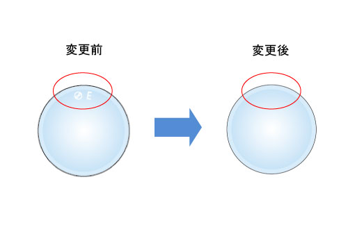 レンズマーク変更例